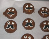 LIMITED AVAILABILITY - Mustache face chocolate covered sandwich cookies