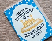 Hope Your Birthday is a Boatload of Fun - 4bar card and envelope