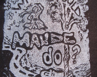 What Would Maude Do? Harold and Maude -Block Printed tee shirt- Men's and Woman's