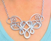 BLEEDING HEART Necklace Hand Wire Wrapped - Choose Your Own COLORS