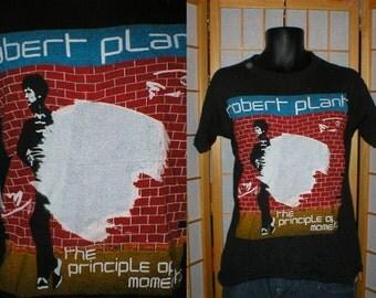 vintage 80s soft black cotton Robert Plant tshirt size large