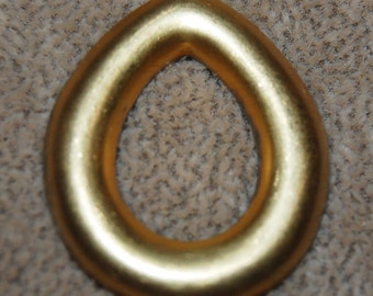 Vintage 4 Art Deco Smooth Open Teardrop Pendant 32x27mm Stampiings P3L