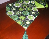 St. Patrick's Day Shamrock with Dots  Luck of the Irish Table Runner by ThemeRunners