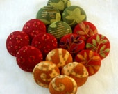 FOUR Fall Harvest Buttons - You Choose the Pattern, You Choose the Size
