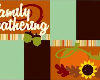 Family Gathering 2-page 12x12 do-it-yourself scrapbook kit