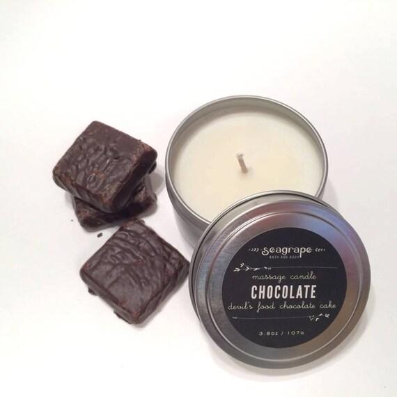 Chocolate Cake Kissable Soy Massage Candle