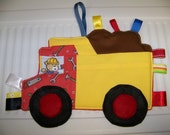 Quilt pattern, Dump Truck Patchwork Crinkle Taggie Toy pdf Pattern and Tutorial with a Immediate download e-file