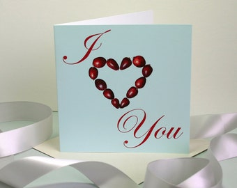 I Heart You Valentines Card or Anniversary Card for Him