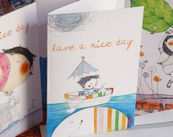 Greetings cards, Birthday Cards original illustrations