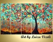 SALE Original Large Whimsical OLIVE Tree Painting Huge Boho Fantasy Landscape Made to ORDER- Reduced Price for Limited Time