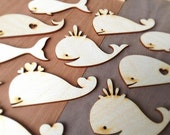 12 Pieces- Craft Wood Shapes Whales