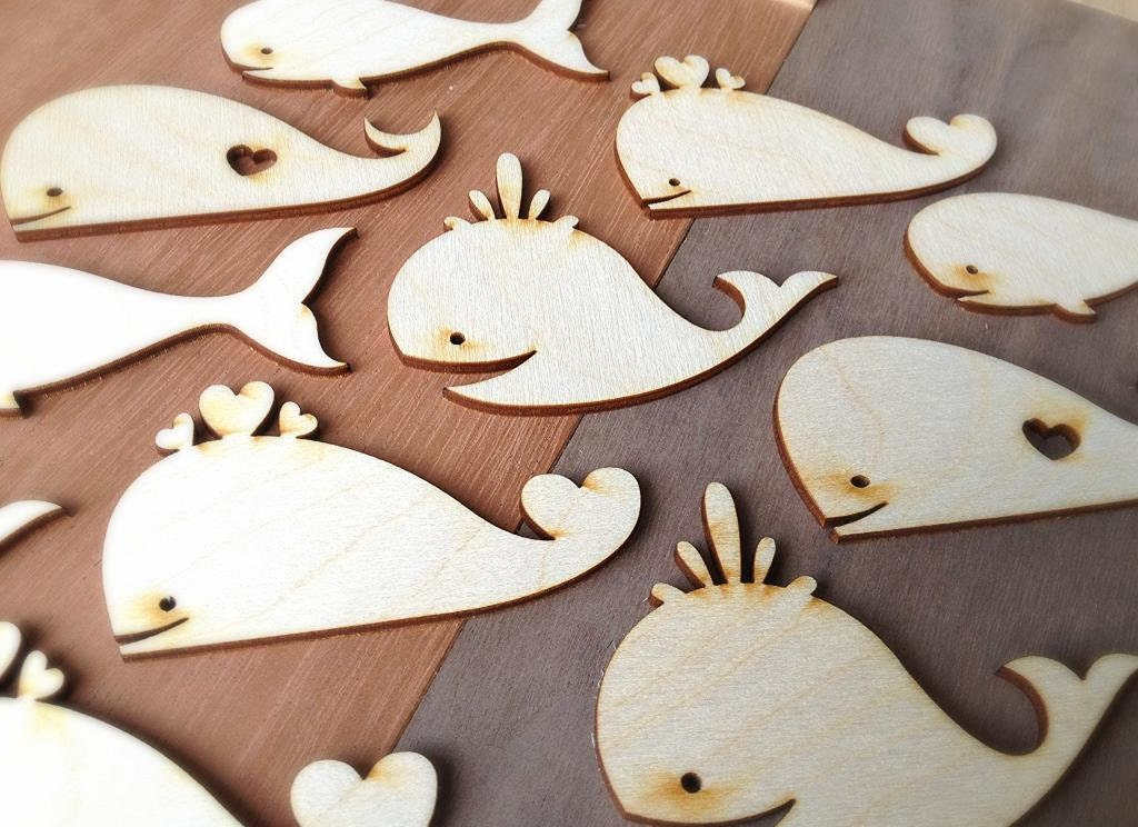 Wood Pieces For Crafts ~ Pieces craft wood shapes whales