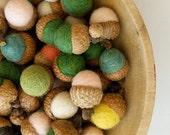 Needle Felted Acorns, Handmade Acorns, Bulk Wholesale Lot, Baby Shower Gift Wedding Favor
