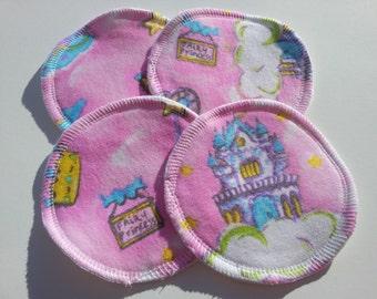 2 Pairs of Cloth Nursing Pads - Fairy Princess