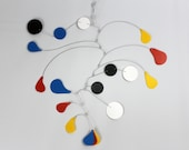 Calder Inspired Fun Mobile Art - Great for Nursery or Playroom - Kinetic Art Mobile Sculpture - 24w x 25t -  P141