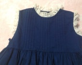 Navy Dress with Swing Circle Skirt