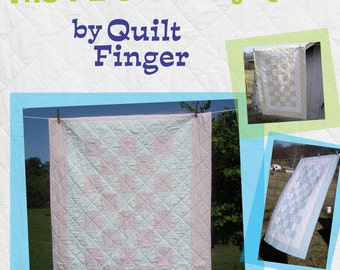 Easy 1-2-3-4 Baby Quilt Pattern Instant Download - Great for Beginners