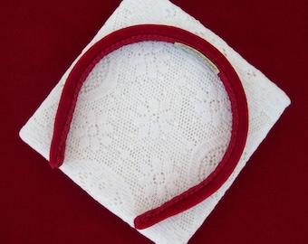 Little Red Velvet Headband