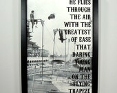 The Flying Trapeze - FRAMED Print