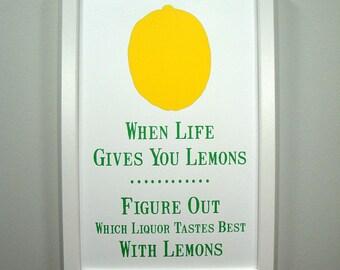 When Life Give You Lemons... FRAMED Print
