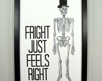 Fright Just Feels Right - FRAMED Halloween Print