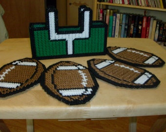 Football Coasters & Holder, Sports Coasters, Goal Holder and Football Coasters Set