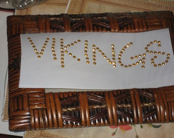 Vikings in a Beautiful Gold Nail Head Sequin Diy Heat Transfer for Your Home Project
