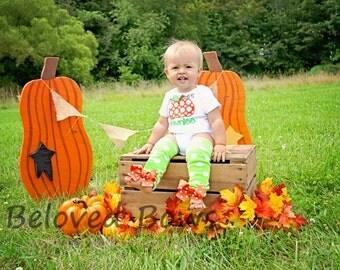 Chuncky Pumpkin Fall/Halloween/Thanksgiving Bodysuit and Leg Warmers