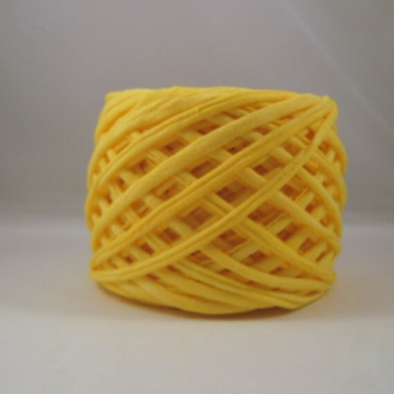 T shirt yarn hand dyed sunshine yellow 60 yards from for T shirt printing st charles mo