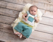 Crochet Pattern, Baby Overalls ,Instant download available,Pattern sizes included- 0-3mos, 6mos,12mos, 24mos