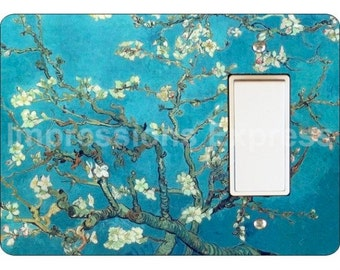 Almond Branches Van Gogh Painting Decora Rocker Light Switch Plate Cover