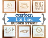 1 x 1 in - YOUR CUSTOM DESIGN - Art Wood Mounted Rubber Stamp - Perfect for Logo, Branding, Packaging, Invitations, Party, Wedding Favors