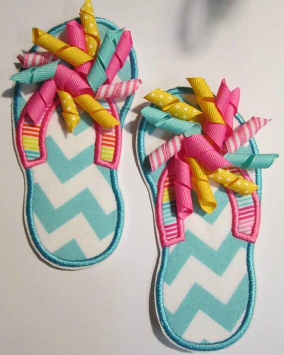 Iron On Applique -  Flip Flops for Summer