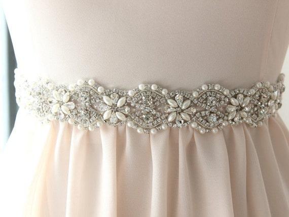 bridal belt beaded wedding sash by davieandchiyo