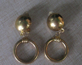 Essential 50s GOLDEN HOOPS Earrings 1950s