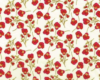 Ros L Red and Yellow Liberty Fabric Fat Quarter