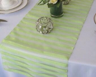Tuxedo organza wedding table runner - Green