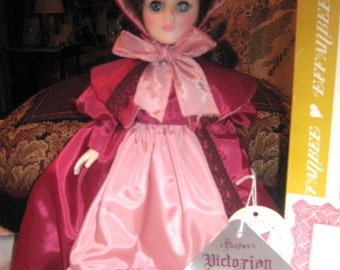 Effanbee Victorian Miniature Collection Doll..Coventry Burgundy 1986