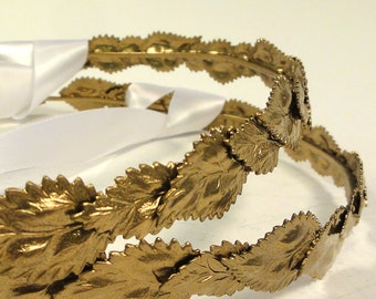 "Orthodox Wedding Crowns, Stefana--""St. Sergius"" Gold"