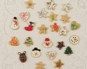 Dollhouse Miniature 2 Dozen Loose Assorted Christmas Cookies