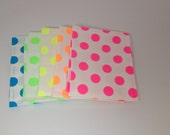 WINTER SALE- Riley Blake Neon Medium Dots -  Fat Eights Bundle (5)