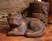 Blackened Beeswax Cat Tart, Melt, Primitive Cupboard Tuck, Scented Beeswax Melt, Grubby Beeswax Cat, Halloween Black Cat, Wax Melt, Wax Tart
