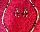 Vintage Avon Necklace and Earring Set