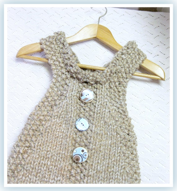 Child's Jumper Dress Knitting Pattern in Bulky Yarn Child 5 to 8 years old