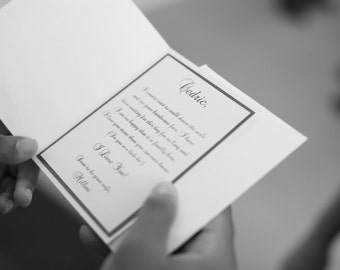 To My Husband Tuxedo Card with Handmade Ribbon Bow
