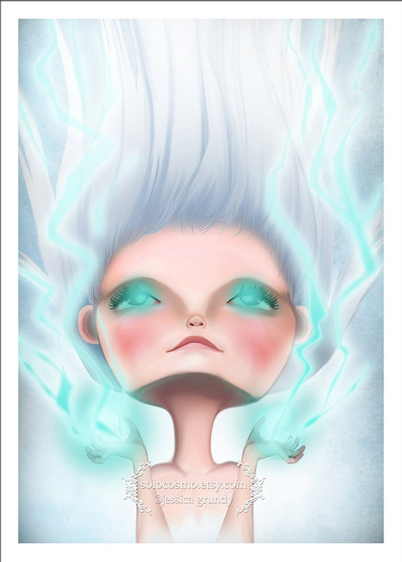 5x7 Art Print - 'Power' - Super Hero Girl - Giclee Art Print by Jessica Grundy