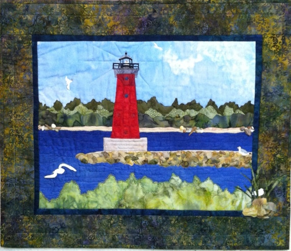 Manistique Lighthouse - an original Peggy Szasz design