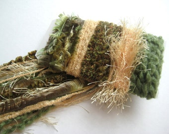 GREEN GABLES Specialty Yarn Fiber Embellishment Bundle - Altered Arts, Jewelry - 5 or more bundles 10% off