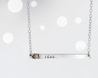 Star Child Name Tag Bracelet-  Name Plate Necklace with Brass Star Rivet