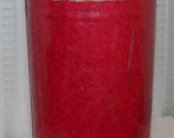 1940s Marbleized Red Large Industrial Kitchen Waste Basket